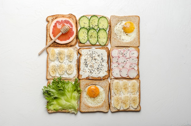 Different toasts
