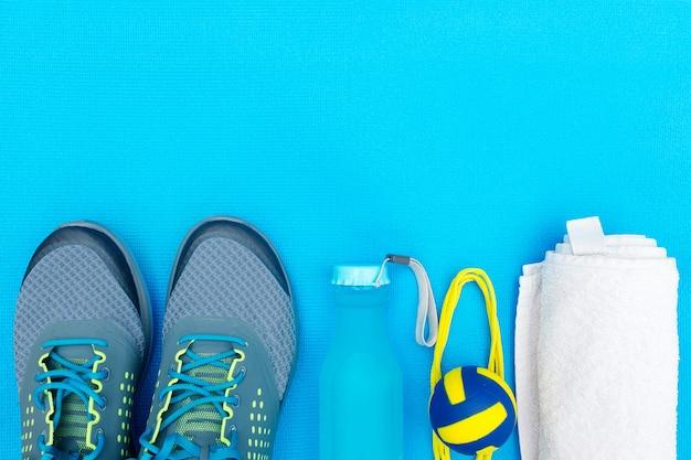 스포츠를위한 다양한 도구 및 액세서리