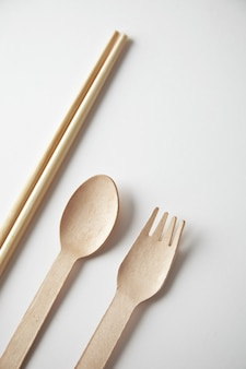 Different type of kitchen utencils for takeaway: asian chopsticks