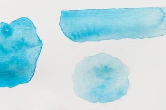 白地に青い水彩スポットの種類