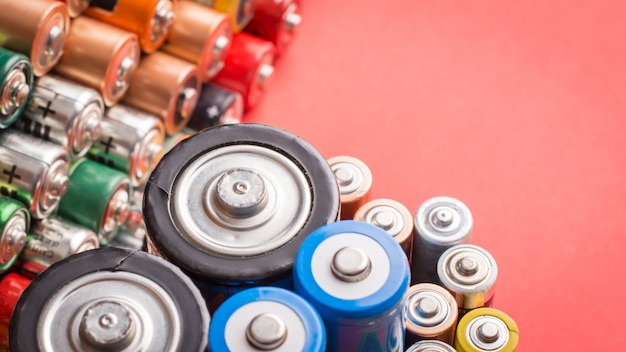 Different used batteries