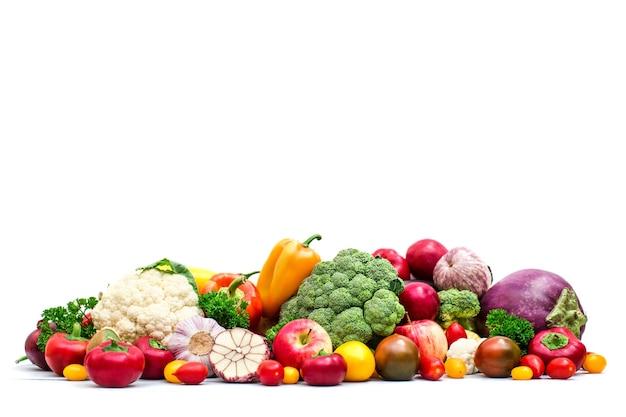 Набор различных овощей, изолированные на белом