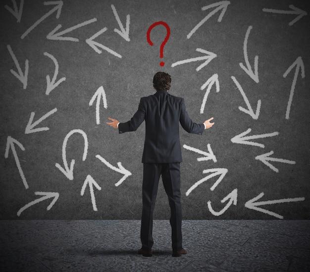 사업가의 어려운 선택