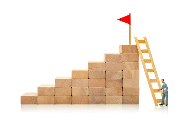 Difficult and easy way to achieve the goal concept of choosing solution to achieve the goal career
