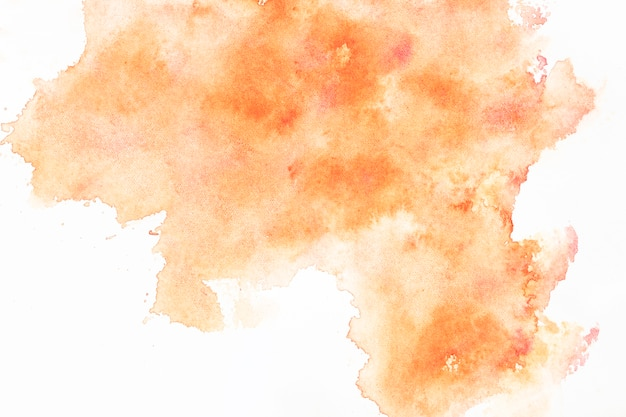 Diffuse orange watercolor splash