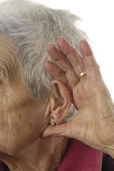 聞くためにdificultat年配の女性