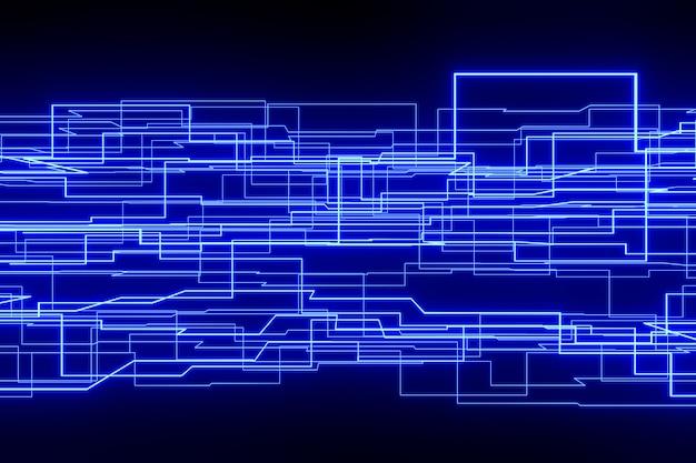 Цифровой абстрактный фон. 3d-рендеринг.