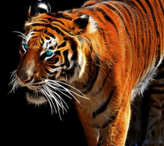 Цифровое искусство тигра
