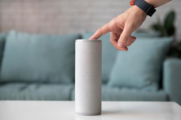 Digital assistant speaker on table