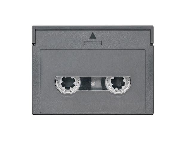 Digital audio tape isolated on white background.