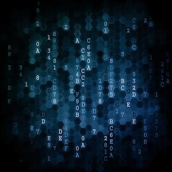 Digital background. series of numbers of dark blue color falling down.