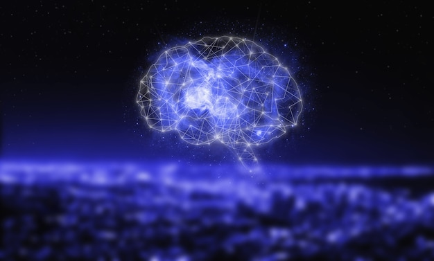 Digital brain artificial intelligence. neural networks and other concepts of modern technologies. virtual reality or artificial intelligence technology