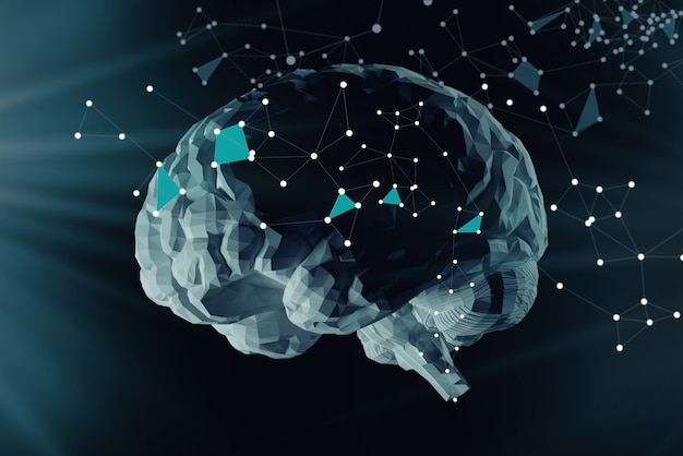 The digital brain and the grid connections of neurons