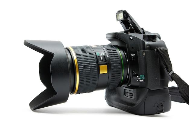 렌즈, 흰색 절연 디지털 카메라