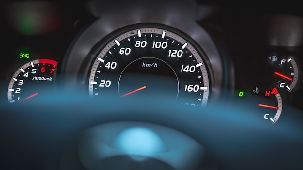 Digital car gauge odometer dashboard display speedometer