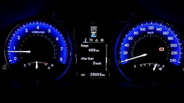 디지털 자동차 속도계 게이지