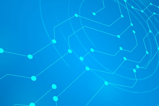 Digital circle line blue background