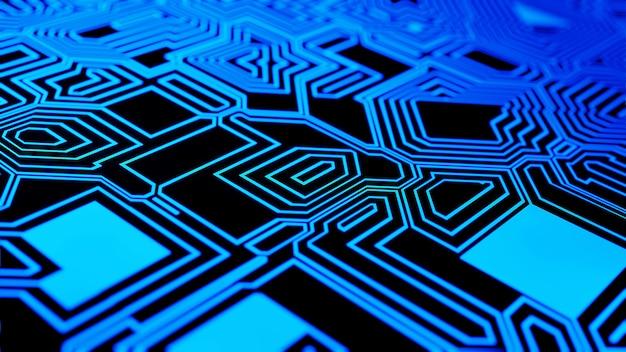 Digital circuit board futuristic communication concept