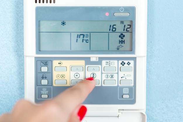 Digital climate thermostat controlling