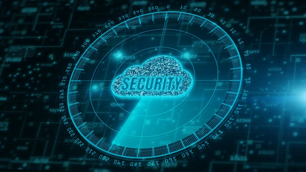 Digital cloud computing and radar scanning of cyber security. digital data network protection