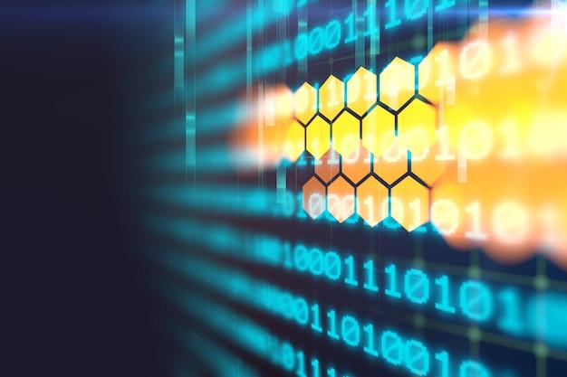 Цифровой код номер абстрактные технологии фон Premium Фотографии