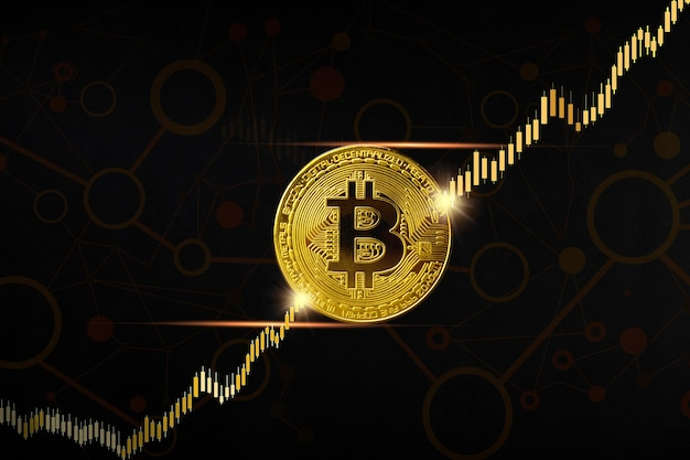 Digital currency bitcoin background