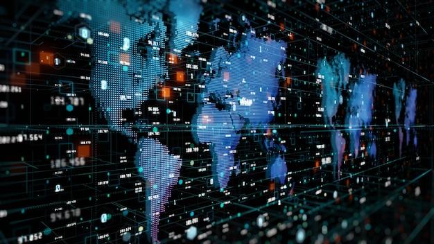 디지털 사이버 공간 및 디지털 데이터 네트워크 연결