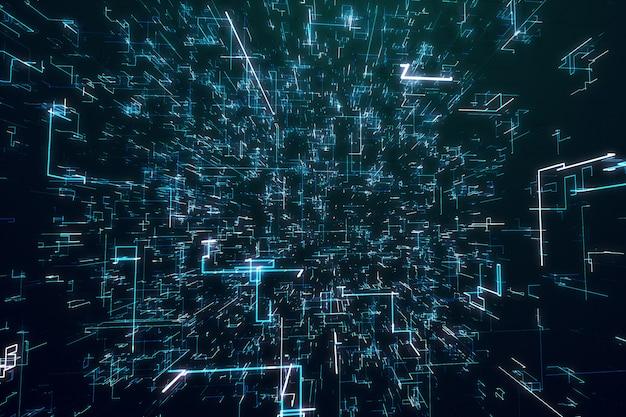 Цифровой темный фон