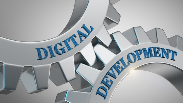 Digital development concept