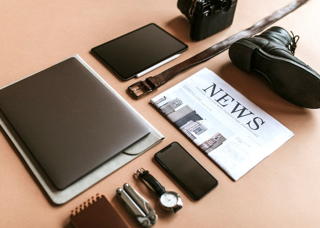 Digital device with daily essentials set