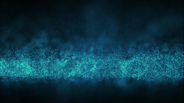 Digital dust particles flow abstract particle background