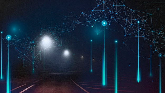 Цифровой элемент аннотация на дороге