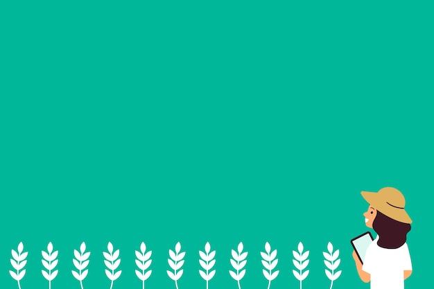 Digital farming social media background illustration