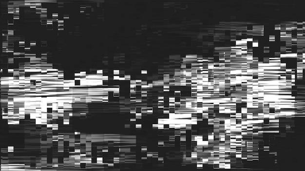 デジタルグリッチと静的テレビノイズ効果、vhs欠陥とノイズの視覚効果