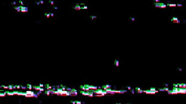 デジタルグリッチと静的テレビノイズ効果、vhs欠陥の視覚効果、アーティファクトとノイズ、レトロな背景。テレビや映画のテーマのエレガントでレトロな3dイラストスタイル