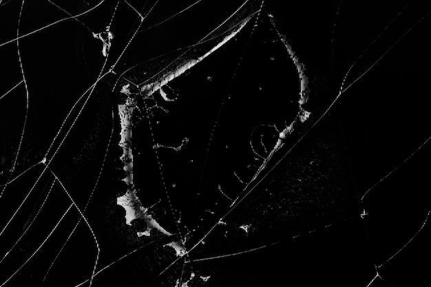 Утечка кристалла с цифровым глюком и трещины на сломанном жк-экране монитора компьютера или телевизоре uhd 4k