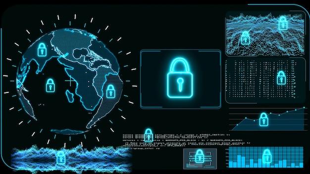 ランサムウェアを保護するためのデジタルグローバル世界地図とロック技術の研究開発分析