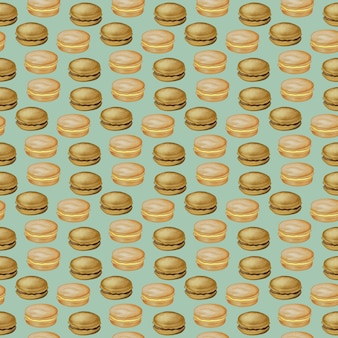 Digital illustration of food seamless pattern hamburgers burgers sandwiches burgers chicken burger