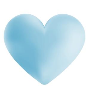 Digital illustration of a simple blue heart
