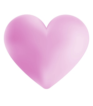 Digital illustration of a simple pink heart
