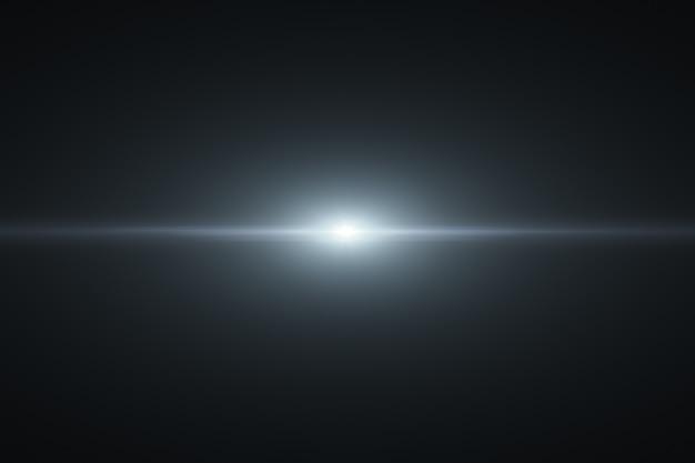 Digital lens flare in black bacground horizontal frame