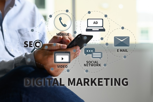 Digital marketing new startup project online  search engine optimisation
