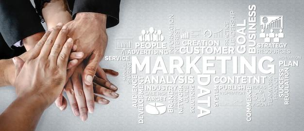 Цифровое маркетинговое решение для бизнес-концепции в интернете.