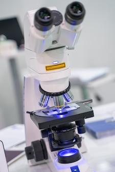 Digital microscope camera in science laboratory
