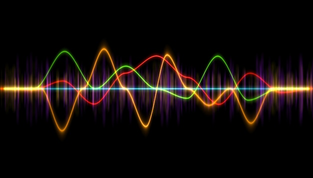 Digital music player waveform, hud for sound technology or tune bar,