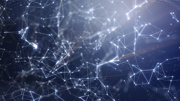공상 과학 및 기술 혁신 장면의 벽지에 대한 디지털 네트워크 솔루션 배경