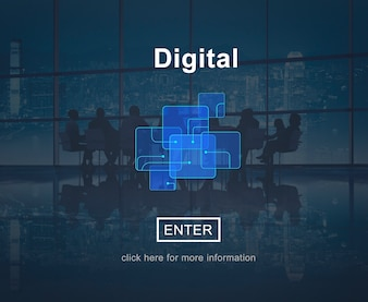 Digital Online Website Technology Concept