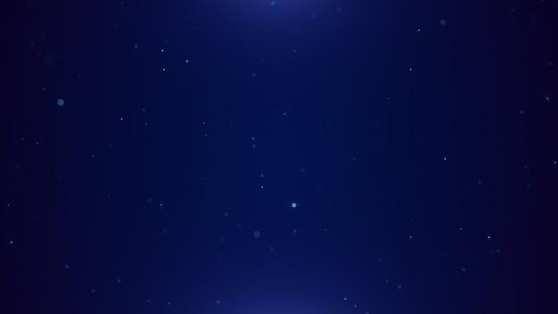 デジタル粒子技術の背景、サイバースペースに浮かぶ抽象的な青いネオンダスト