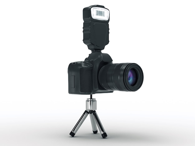 デジタルフォトカメラの3dレンダリング
