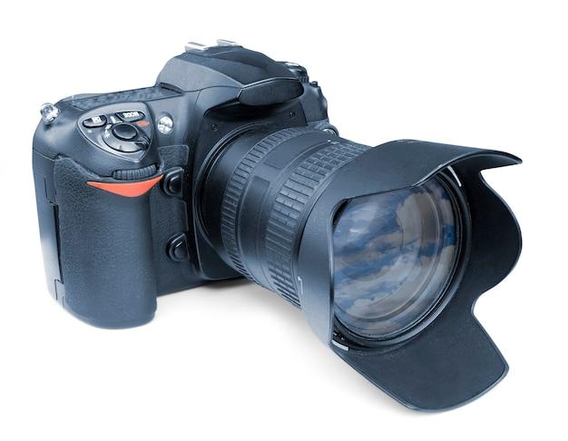 白で隔離のデジタル写真カメラ